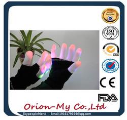 Light Up LED Gloves with 6 Color Modes light gloves lighting gloves