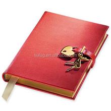 Hot sale Customized Pu leather heart lock a4 a5 notebook