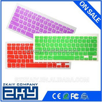 New Design Colorful Custom Silicone Thin Protective Keyboard Cover For Macbook Air/ Pro Factory