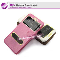 Hot sale view window leather case for samsung Galaxy Mega 5.8 i9152