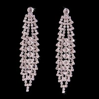 Fashion Silver Plated Crystal Earrings for Wedding Party