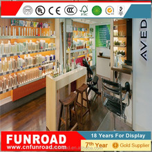 Attractive customized modern style cosmetic mdf showcase with led light