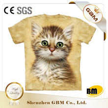 Wholesale fashionable 100% cotton animal printed 3d t-shirt
