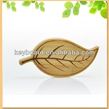 Thanksgiving day gift bamboo leaf shape usb flash drive