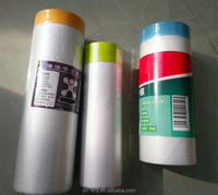 pre taped auto paint self adhesive mask film with logo
