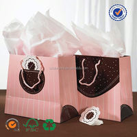 U color Customized small paper bag with handle