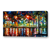 Handmade abstract palette knife oil paintings