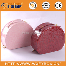 Transparent plastic box for cosmetics