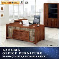 executive wooden office desk MDF board teak wood furniture kerala