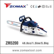 ZOMAX power tool 49.8cc 2.0kW ZM5200 chain saw 2 stroke gasoline