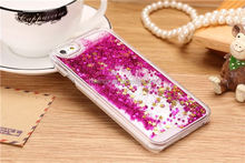 2015 Stylish 3D liquid quicksand star back cover bling 3d moving liquid case for iphone6 alibaba china