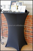 Black Color Four Leg Highboy Cocktail Table Cover \ Spandex Table Cover