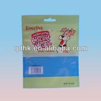 Chicken jerky bisuit wraps pet dog food packaging ziplock bag