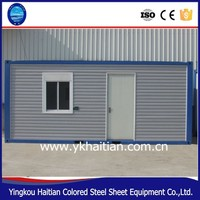 Steel structure prefab container house, mobile living house container for sale