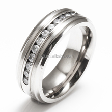 Stunning Silver Matte Sparkling Mens Ladies Stainless Steel Engagement Wedding Band Promise Ring
