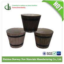Hot sale cheap custom printed flower pots whisky wood barrel planters