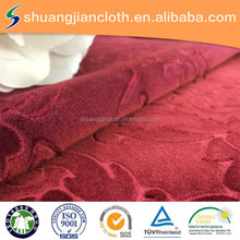 Direct Factory Price Embossed Italy Velvet For Sofa Fabric