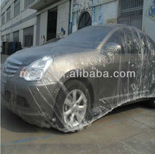 disposable plastic car covers/automatic car covers/temporary car covers