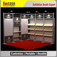 10x10' Aluminum booth exhibition design and construction for LED trade show