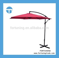 2 hours replied 300cm generous sized polyester banana hanging swimming pool umbrella