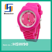 2015 New collection silicone jelly simple fashion watches