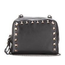ladies most fashion studded small shoulder bag,studs 100% real leather studs handbags
