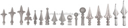 Wrought iron spearhead iron gate and fence finials