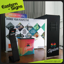Trade show fabric backdrop display stand