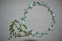 headband with fabric flower knitted headband pattern knit headband with flower H5177