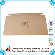 Logo gold hot stamping brown custom a4 size paper box