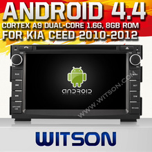 WITSON Android 4.4 FOR KIA CEED CAR STEREO 2010-2012 Cortex A9 WiFi 3G 8GB Inand CAPACTIVE Screen