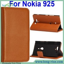 Lichee Pattern Wallet Style Flip Leather Case for Nokia Lumia 925 Flip Cover