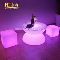Luminous LED Glowing Bar Furniture Night Club Chargeable Outdoor Coffee Table