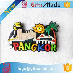 custom fruit shape rubber magnet 3d souvenir soft pvc fridge magnet