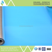 Metalized pet film roof underlayment with adhesive band