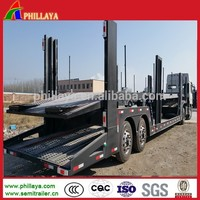 heavy duty Hydraulic lifting 3 axles car carrier trailers/car transport truck trailer for sale