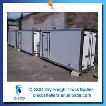 De alta qualidade caminhão carga seca caixa de carga com tamanho do cliente