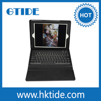 Gtide KB553 Bluetooth keyboard with Leather case for new ipad tablet cover with keyboard