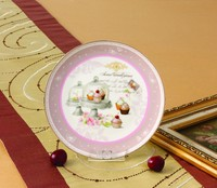 Manufactuer High Quality Cake Pattern Ceramic Plate For Christmas