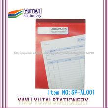 Impresión de billetes recepción libro Factura personalizada