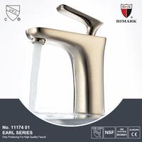 Brush nickel basin faucet water bottle faucet
