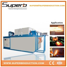 Induction heating rod forged machine for nut and bolt