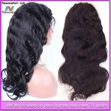 Guangzhou Newness Top sell tangle free long thick yaki glueless full lace 100% brazilian Human hair Wig full lace