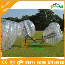 hot sale funny giant 1.0mm PVC inflatable bubble ball,human plastic ball