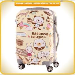 Kids hard shell luggage cartoon cute kids ABS hard shell luggage