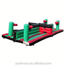 Inflatable Dual Lane Equaliser with Basket Ball Hoops