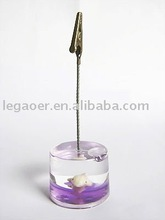 acrylic liquid round base with 3D floater note holder