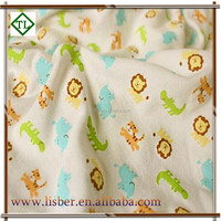 Wholesale eco-freindly prints 100 cotton knitted duoble jersey fabric for baby clothes