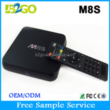 Factory made M8S AMLogic S812 2GB 8GB quad core android digital tv converter box