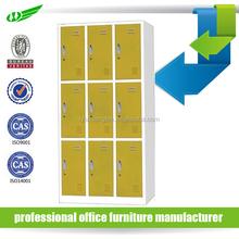multi-color and function large wardrobe armoires/9 door metal locker/factory staff used wardrobe